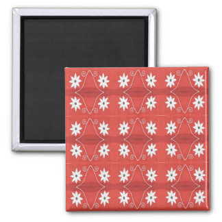 red star flowers magnet