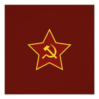 Red Star Hammer and Sickle Posters