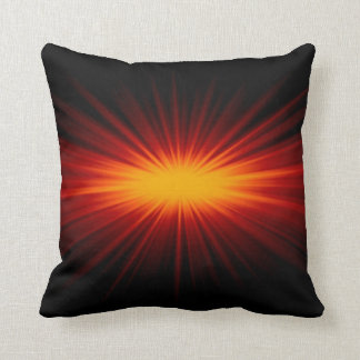 Red Star Light Art Design Abstract Pillow
