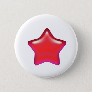Red Star of Love 2 Inch Round Button