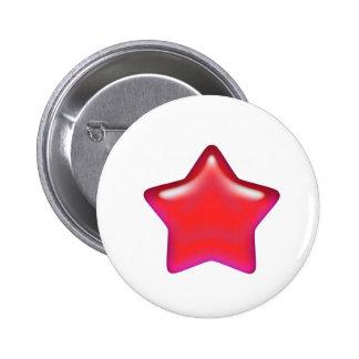 Red Star of Love 2 Inch Round Button