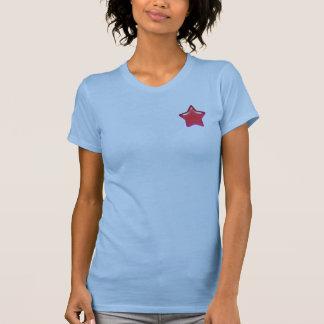 Red Star of Love Ladies Petite T-Shirt