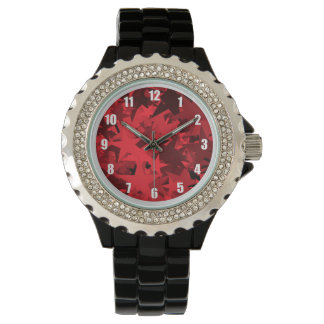 Red Star Patterned Watch