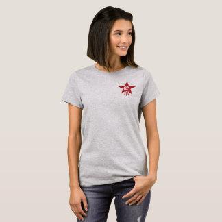 Red STAR resistance girl shirt