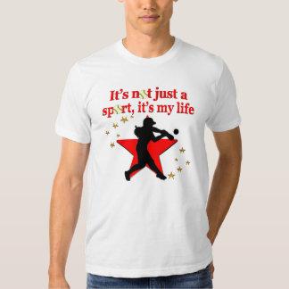RED STAR SOFTBALL IS MY LIFE DESIGN T SHIRT
