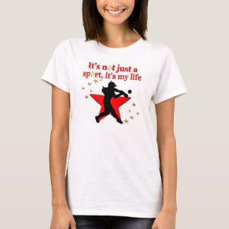 RED STAR SOFTBALL IS MY LIFE DESIGN T-Shirt