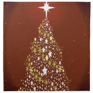 Red Star Spangled Christmas Tree Napkin