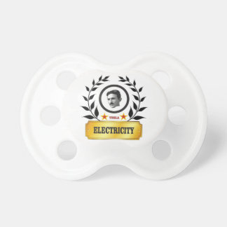 red star tesla baby pacifiers
