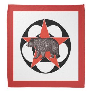 Red Star Walking Bear Bandana