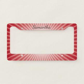 Red Starburst Design License Plate Frame