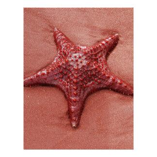 Red starfish letterhead