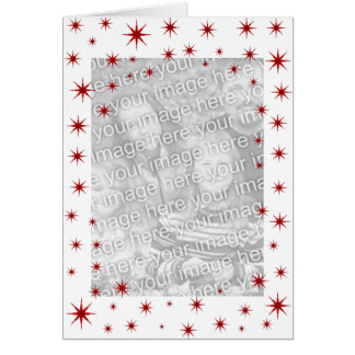 Red Starry Christmas Greeting Card