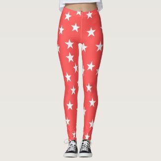 Red Starry Starry Leggings