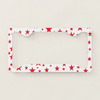 Red Stars License Plate Frame