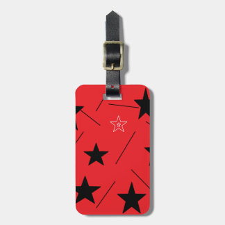 Red stars Luggage Tag by DAL