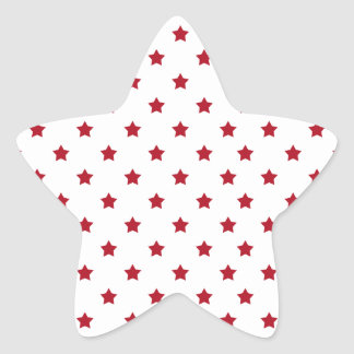 Red Stars on White Star Sticker