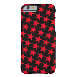 Red Stars over Black - Customizable Phone Case