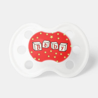 Red Stars Pacifier