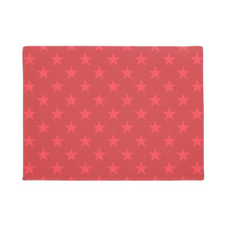 Red stars pattern doormat