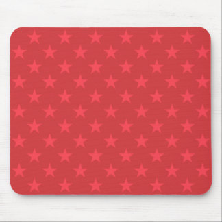 Red stars pattern mouse pad