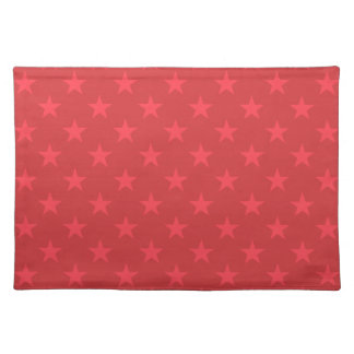 Red stars pattern placemat