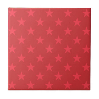 Red stars pattern tile
