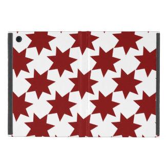 Red Stars Quilt Pattern Primitive Theme iPad Mini Case