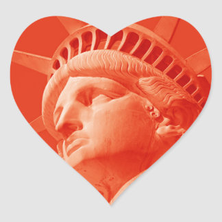 Red Statue of Liberty Heart Sticker