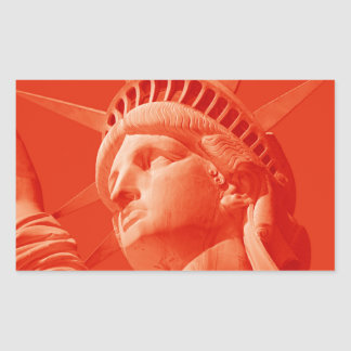 Red Statue of Liberty Rectangular Stickers