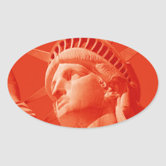 Red Statue of Liberty Sticker