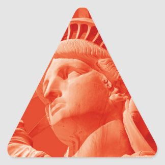Red Statue of Liberty Stickers