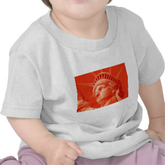 Red Statue of Liberty T Shirts