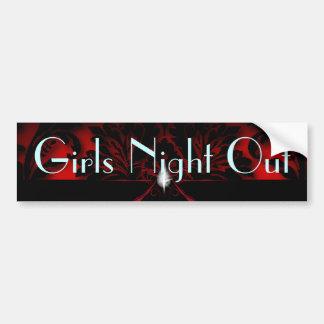 red Stiletto Bridal Shower bachelorette party Bumper Sticker