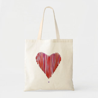 Red Stitched Heart Tote