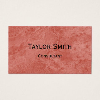 red stone marble swirl abstract business card