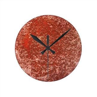 Red stone round clock