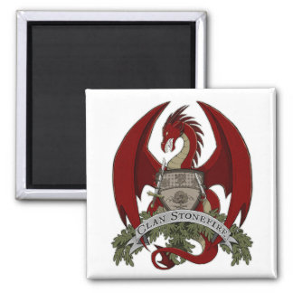 Red Stonefire Dragon Crest Magnet