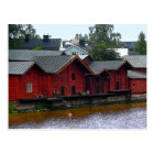 Red Storehouses in Porvoo, Finland Postcard