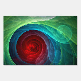 Red Storm Abstract Art