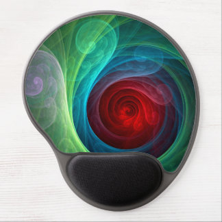 Red Storm Abstract Art Gel Mousepad