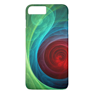 Red Storm Abstract Art iPhone 7 Plus Case