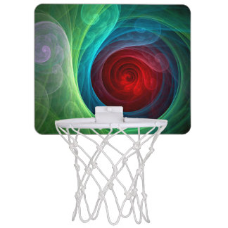Red Storm Abstract Art Mini Basketball Hoop