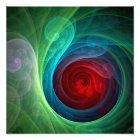 Red Storm Abstract Art Photo Print