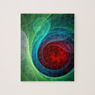Red Storm Abstract Art Puzzle
