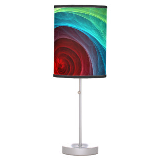 Red Storm Abstract Art Table Lamp
