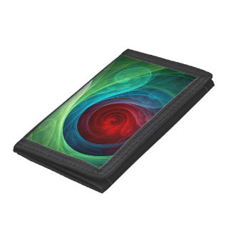 Red Storm Abstract Art Tri-fold Wallet