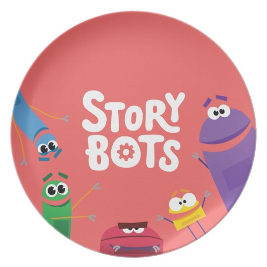 Red StoryBots Plate