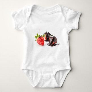Red strawberries baby bodysuit