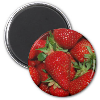 Red Strawberries Magnet
