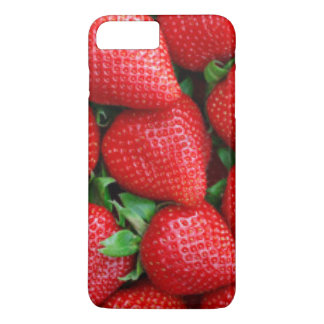 Red Strawberries Pattern Design iPhone 8 Plus/7 Plus Case